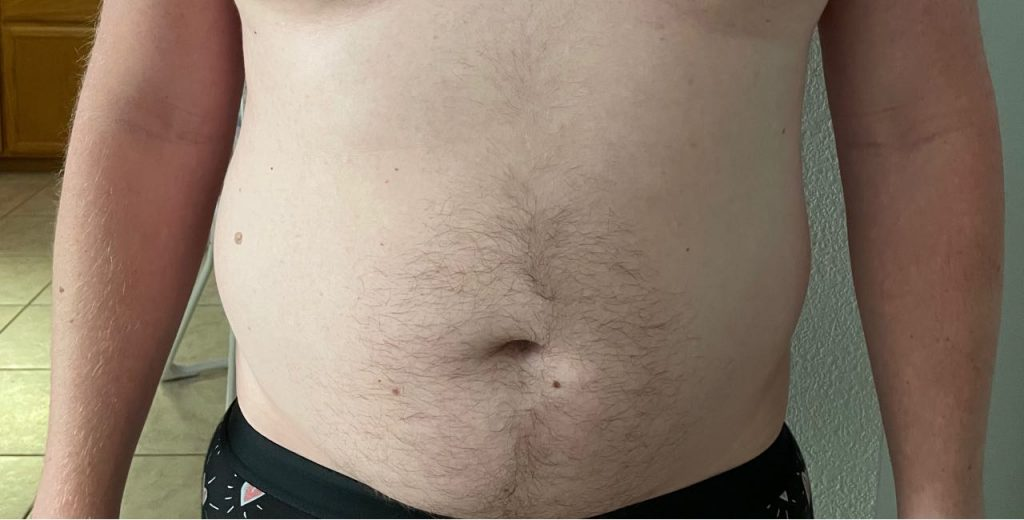 Body Type Two (BT2) Male - Fellow One Research Free Body Type Shape Test - The Four Body Types Research Participant 536