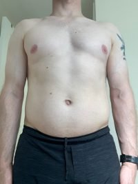 Body Type One (BT1) Male - Fellow One Research Body Type Shape Test - The Four Body Types Research Participant 574