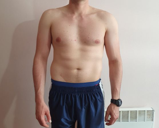 Body Type Two (BT2) Male - Fellow One Research Body Type Shape Test - The Four Body Types Research Participant 675