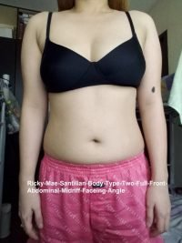 Body Type Two (BT2) Female - Fellow One Research Body Type Shape Test - The Four Body Types Research Participant 630