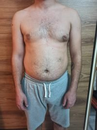 Body Type Two (BT2) Male - Fellow One Research Body Type Shape Test - The Four Body Types Research Participant 683