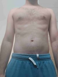 Body Type Two (BT2) Male - Fellow One Research Body Type Shape Test - The Four Body Types Research Participant 691